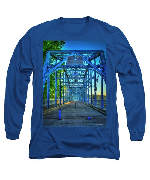 Walking Tall Walnut Street Pedestrian Bridge Art Chattanooga Tennessee Long Sleeve T-Shirt