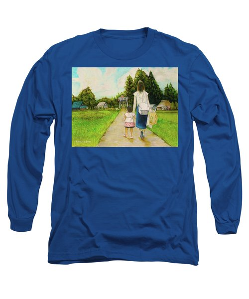 Walking To The Shrine Long Sleeve T-Shirt by Tim Ernst