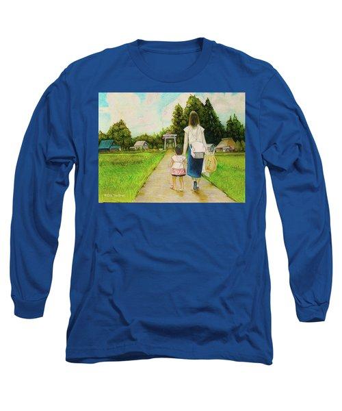 Walking To The Shrine Long Sleeve T-Shirt