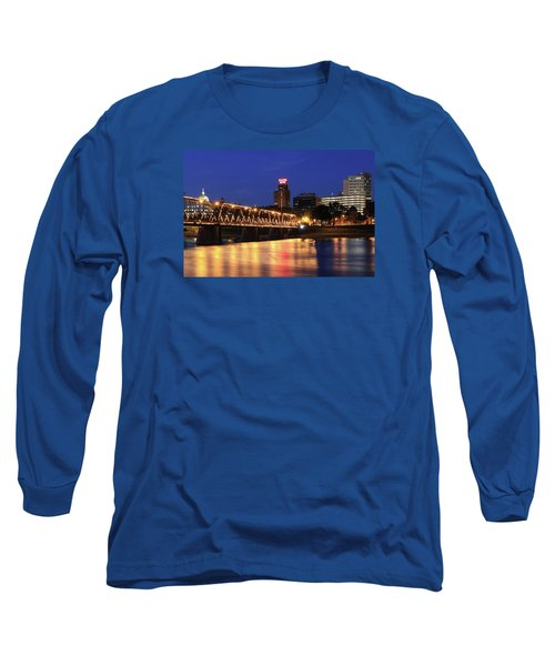 Walnut Street Bridge Long Sleeve T-Shirt by Shelley Neff