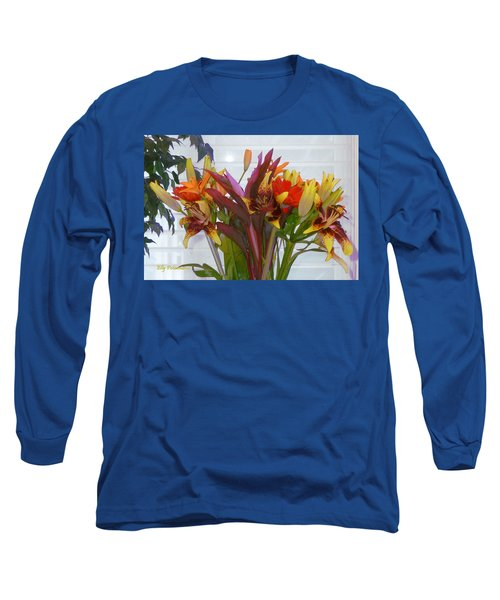 Warm Colored Flowers Long Sleeve T-Shirt