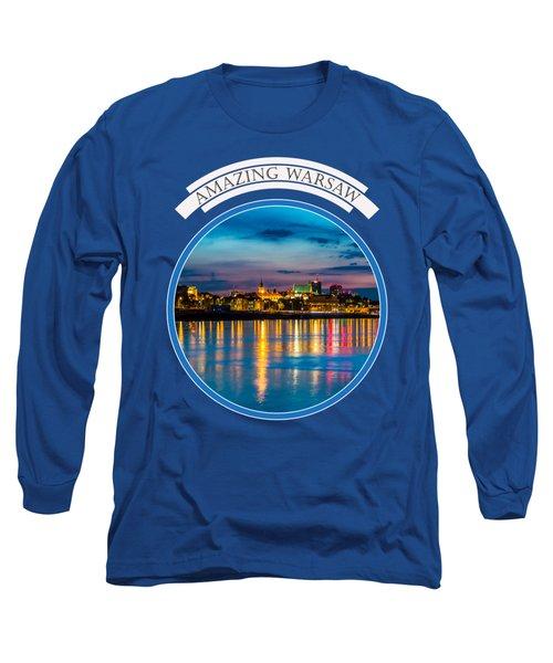 Warsaw Souvenir T-shirt Design 1 Blue Long Sleeve T-Shirt