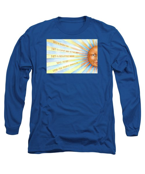 Long Sleeve T-Shirt featuring the painting Was A Sunny Day by Lora Serra