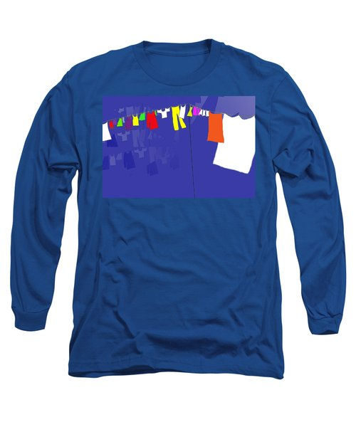 Long Sleeve T-Shirt featuring the digital art Washing Line by Barbara Moignard