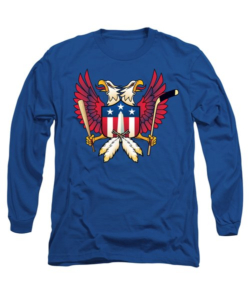 Washington Dc-double Eagle Sports Fan Crest Long Sleeve T-Shirt
