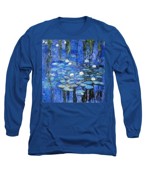 water lilies a la Monet Long Sleeve T-Shirt