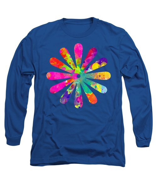 Watercolor Flower 2 - Tee Shirt Design Long Sleeve T-Shirt by Debbie Portwood