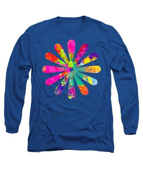 Watercolor Flower 2 - Tee Shirt Design Long Sleeve T-Shirt