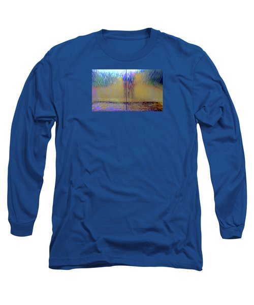 Long Sleeve T-Shirt featuring the photograph Watery Rainbow Abstract by Nareeta Martin