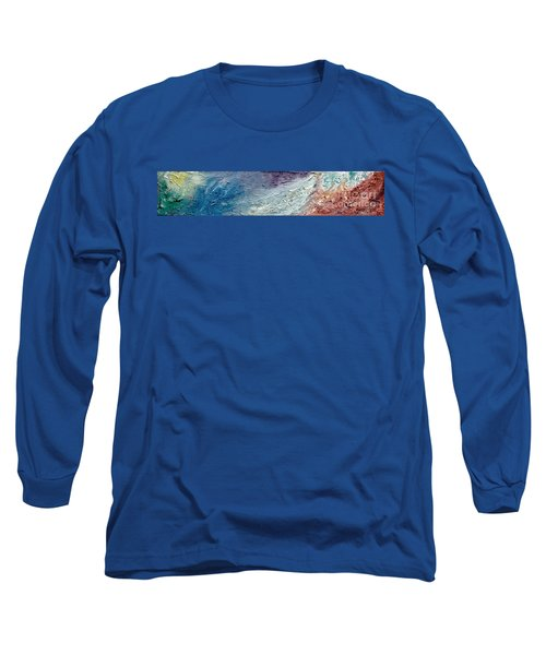 Waves Of Color Long Sleeve T-Shirt by Gallery Messina