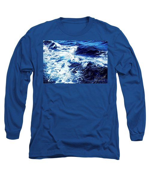 Waves Long Sleeve T-Shirt by Zedi