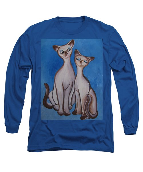 We Are Siamese Long Sleeve T-Shirt by Leslie Manley