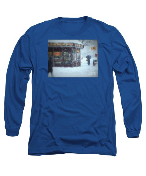 We Sell Flowers - Winter In New York Long Sleeve T-Shirt by Miriam Danar