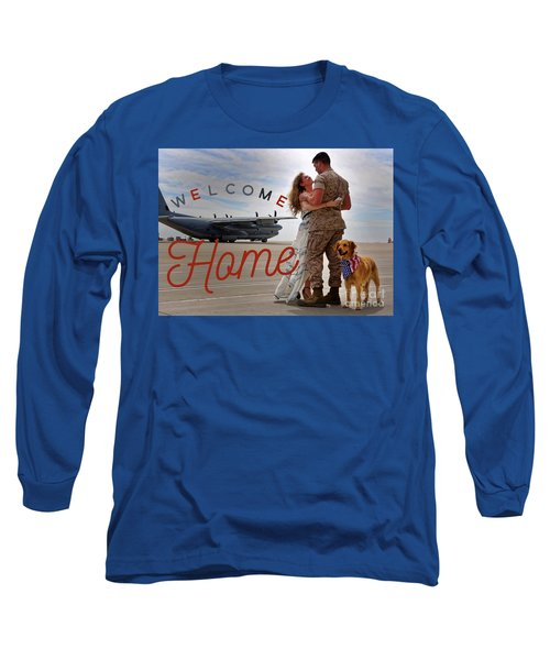 Long Sleeve T-Shirt featuring the digital art Welcome Home by Kathy Tarochione