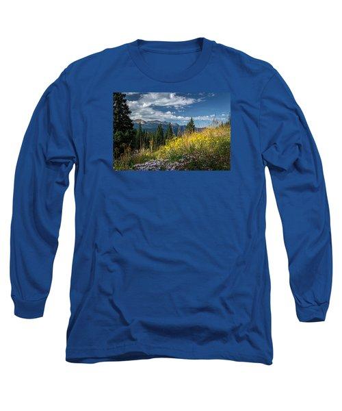 West Elk Mountain Range Long Sleeve T-Shirt by Michael J Bauer