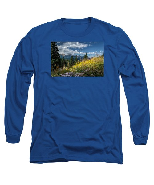 West Elk Mountain Range Long Sleeve T-Shirt