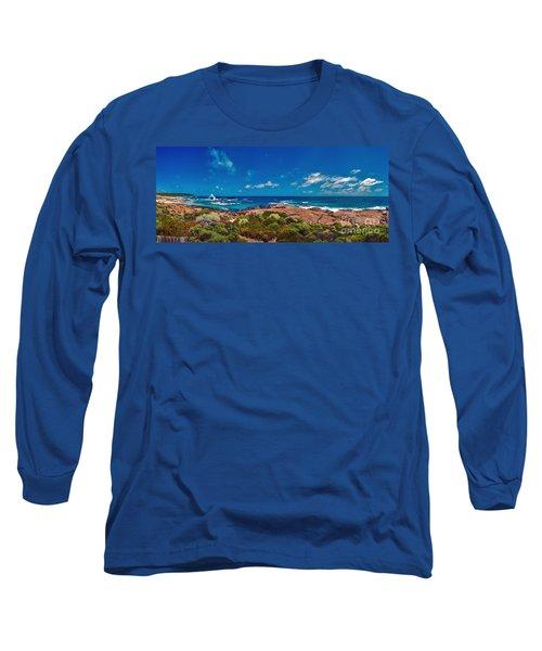 Long Sleeve T-Shirt featuring the photograph Western Australia Beach Panorama by David Zanzinger