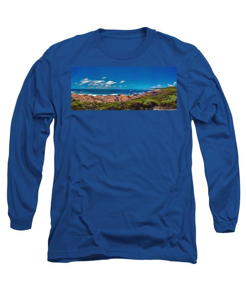 Long Sleeve T-Shirt featuring the photograph Western Australia Beach Panorama Margaret River by David Zanzinger
