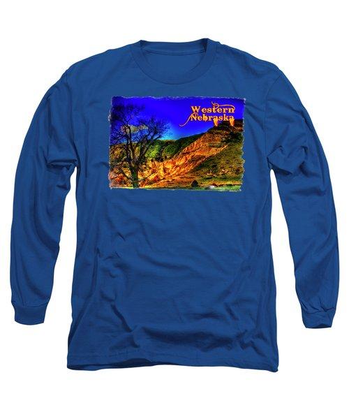 Western Nebraska Near Chimney Rock Long Sleeve T-Shirt