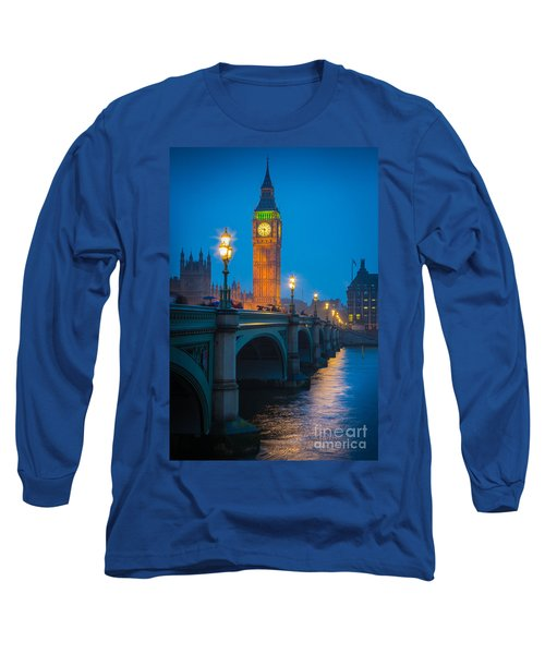 Westminster Bridge At Night Long Sleeve T-Shirt