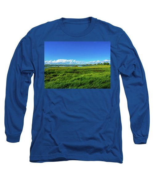 Wetlands On A Windy Spring Day Long Sleeve T-Shirt