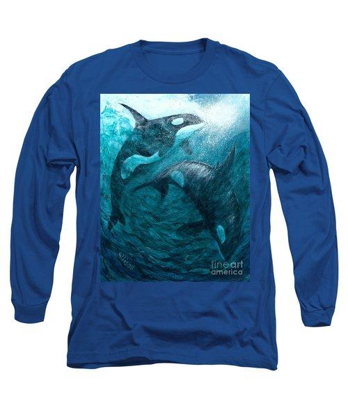 Whales  Ascending  Descending Long Sleeve T-Shirt