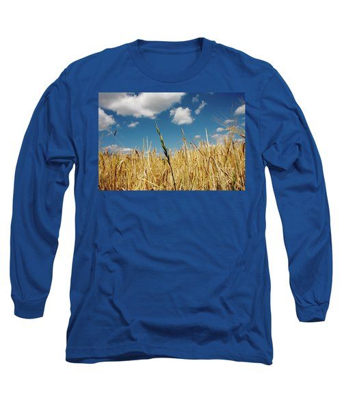 Long Sleeve T-Shirt featuring the photograph Wheat On The Rhine by KG Thienemann