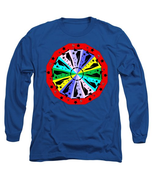 Wheel Of Color Long Sleeve T-Shirt