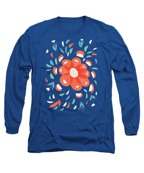 Whimsical Red Flower Long Sleeve T-Shirt
