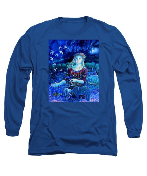Whispers From The Future  Long Sleeve T-Shirt by Trudi Doyle