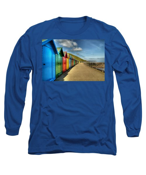Whitby Beach Huts Long Sleeve T-Shirt