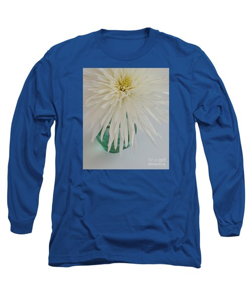 White Flower In A Vase By Jasna Gopic Long Sleeve T-Shirt by Jasna Gopic