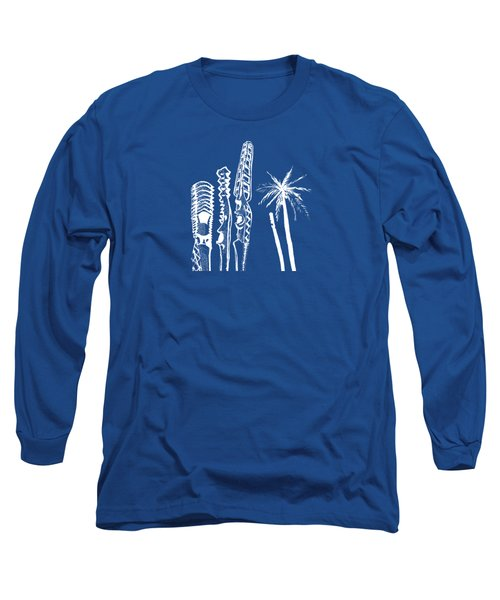 white lines on transparent background - detail -10.4.Islands-1-detail-b Long Sleeve T-Shirt