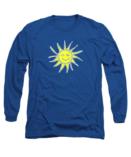 white lines on transparent background - detailv3-10.3.Islands-1-detail-Sun-with-smile Long Sleeve T-Shirt