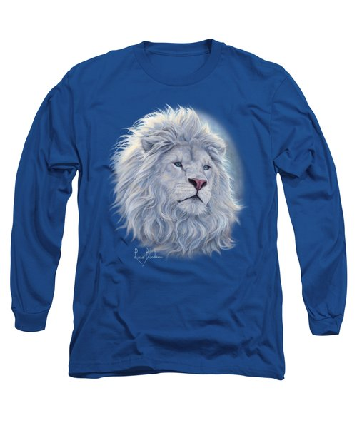 White Lion Long Sleeve T-Shirt by Lucie Bilodeau