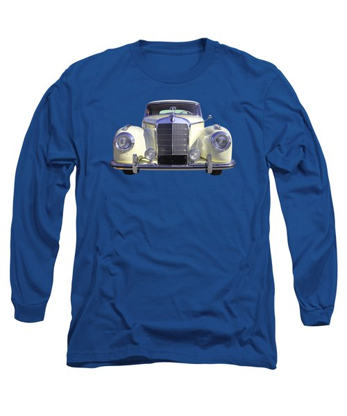 White Mercedes Benz 300 Luxury Car Long Sleeve T-Shirt by Keith Webber Jr
