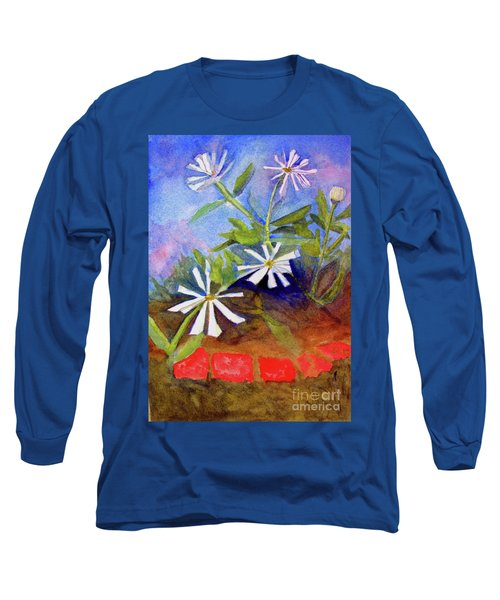 White Zinnias Long Sleeve T-Shirt