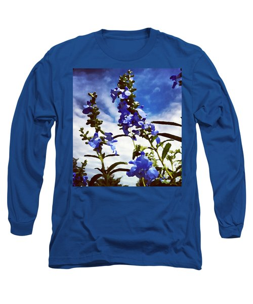 Wild Blue Sage  Long Sleeve T-Shirt
