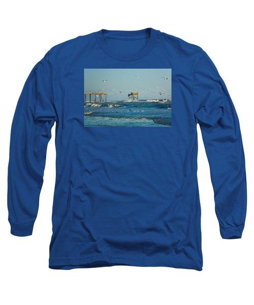 Wild Waves At Nags Head Long Sleeve T-Shirt