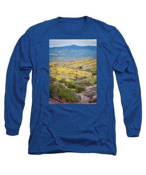 Wildflower Meadows Long Sleeve T-Shirt by Karen Stephenson