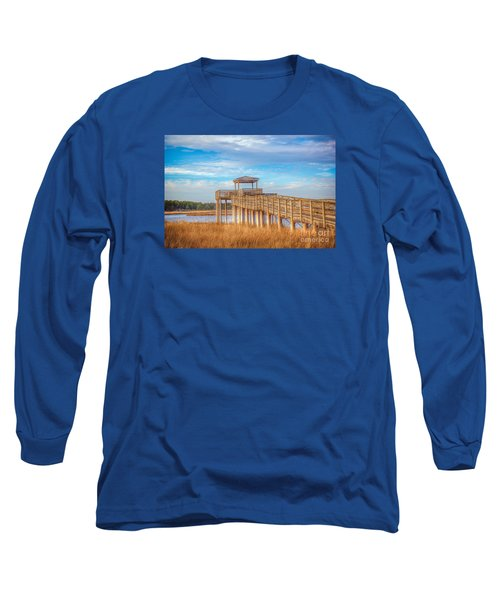 Long Sleeve T-Shirt featuring the photograph Wildlife Viewing Pier by Marion Johnson