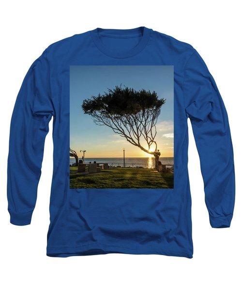 Wind Blown Tree Long Sleeve T-Shirt