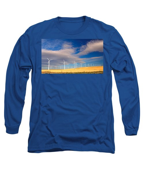 Wind Farm Against The Sky Long Sleeve T-Shirt