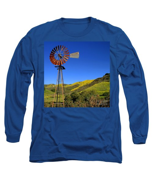 Long Sleeve T-Shirt featuring the photograph Windmill by Henrik Lehnerer