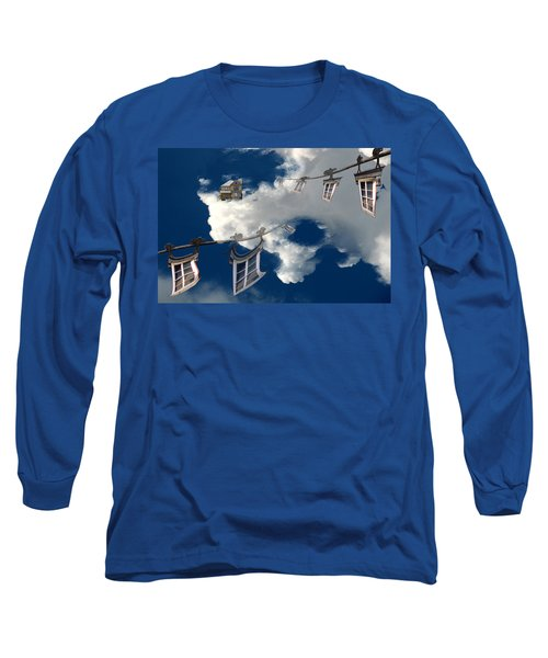 Long Sleeve T-Shirt featuring the photograph Windows And The Sky by Christopher Woods