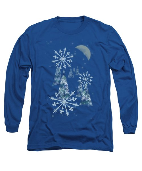 Winter Night Long Sleeve T-Shirt by AugenWerk Susann Serfezi