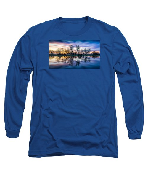 Winter Sunrise Over The Ouse Long Sleeve T-Shirt