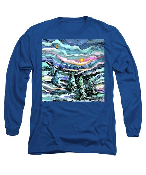 Winter Woods At Dusk Long Sleeve T-Shirt