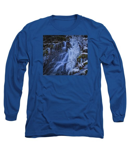 Winterfalls Long Sleeve T-Shirt by Mitch Shindelbower