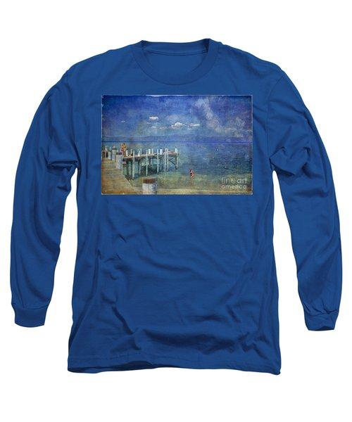Long Sleeve T-Shirt featuring the photograph Wish You Were Here Chambers Landing Lake Tahoe Ca by David Zanzinger